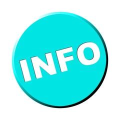Türkiser runder Button: Info