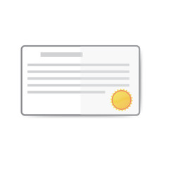vector flat certificate prize board