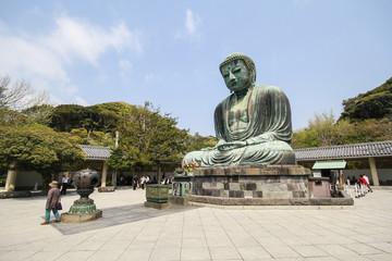 The big Buddha, Daibutsu, in Kamakura, Japan
