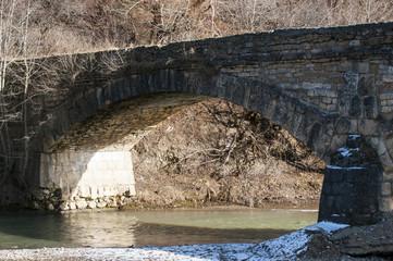 The span of the bridge