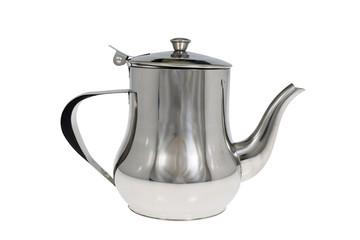Stainless tea pot / Stainless tea pot on white background.