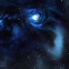 Colorful space scene