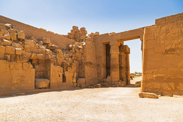 Ancient architecture of Karnak temple in Luxor, Egypt