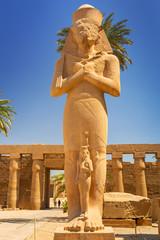Statue of Ramesses II in Karnak temple in Luxor, Egypt