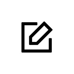 Pencil icon for simple flat style ui design