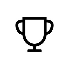 Trophy icon for simple flat style ui design