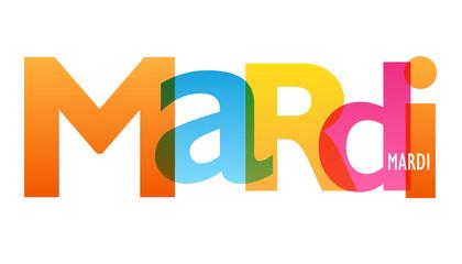 JOURS DE LA SEMAINE - MARDI