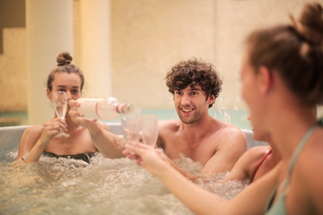 A toast in the hydromassage
