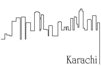 Karachi city one line drawing background Fototapete