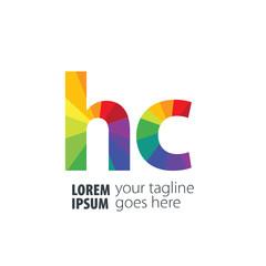 Initial Letter HC Gradient Logo