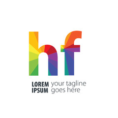 Initial Letter HF Gradient Logo