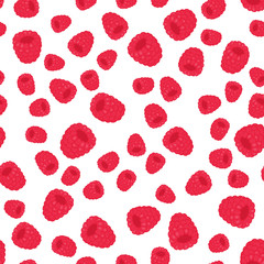 pattern with cute raspberry