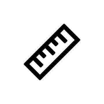Ruler icon for simple flat style ui design