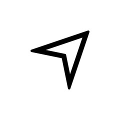 Mouse pointer icon for simple flat style ui design