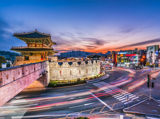 The night Janganmun Gate,suwon ,Korea traditional landmark suwon castle