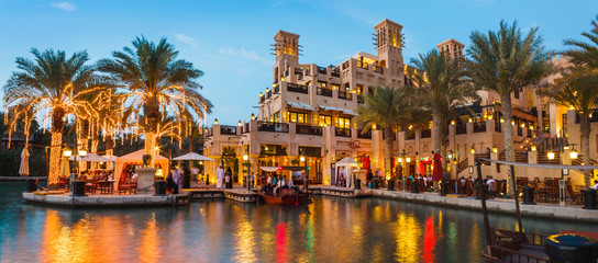 Keuken foto achterwand Dubai View of the Souk Madinat Jumeirah