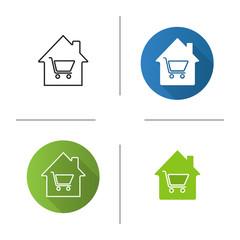 Household goods store icon