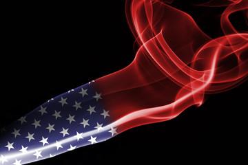 United States flag smoke