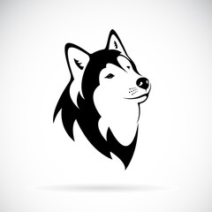 Vector of a dog siberian husky on white background. Dog head. Pet. Animal. Easy editable layered vector illustration.