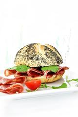Salami and Watercress Sandwich II