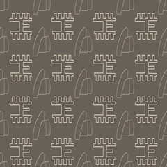 Seamless pattern with Phaistos disc signs for your design