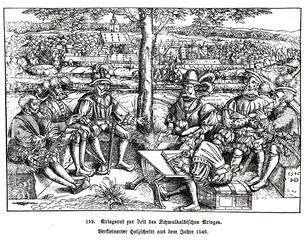 Council of war during the Schmalkaldic War (from Spamers Illustrierte  Weltgeschichte, 1894, 5[1], 371)