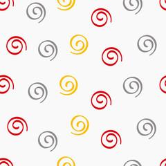 Printed kitchen splashbacks Spiral cartoon colored spiral seamless pattern on a white background