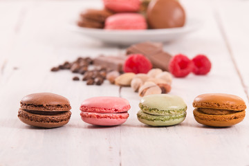 Colorful macarons.