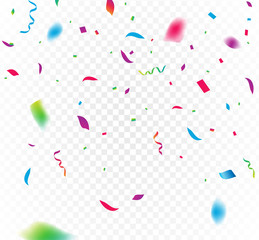 Confetti background vector isolated. Falling confetti birthday party decoration