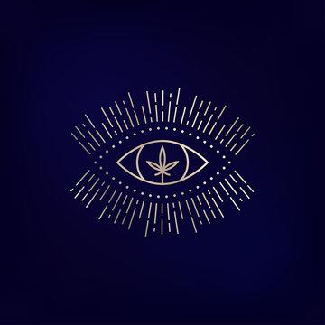 Medical marijuana as an eye emblem