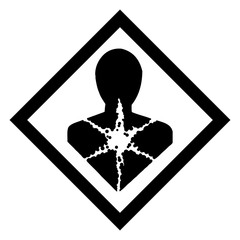 Hazardous icon of hazard from international ghs system