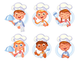 Happy smiling Chef Cook collection