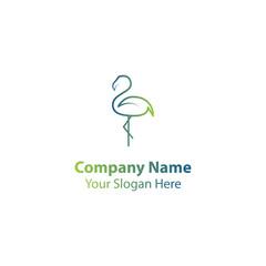 flamingo logo design