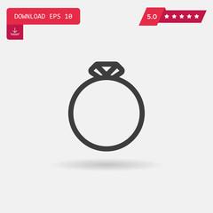 diamond ring vector icon