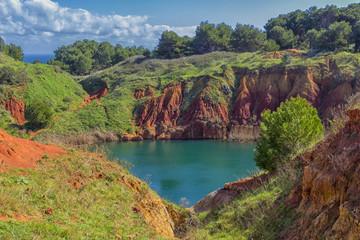 Salento: Otranto, bauxite quarry