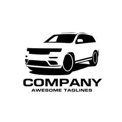 Vector car silhouette logo, silhouette of SUV car style vector, auto car logo concept, car shop logo vector,transport and auto logo