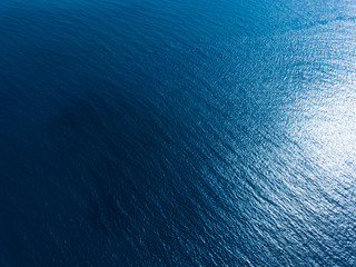 Wall Mural - Aerial view of the sea surface