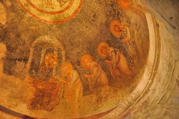 DEMRE, TURKEY  Frescos in the Saint Nicholas (Santa Clause) church  in Demre, Turkey. It's an ancient Byzantine Church