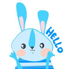 Cute Rabbit Vector Illustration