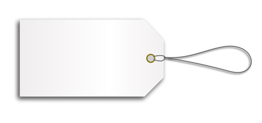 blank cardboard price tag lable with string