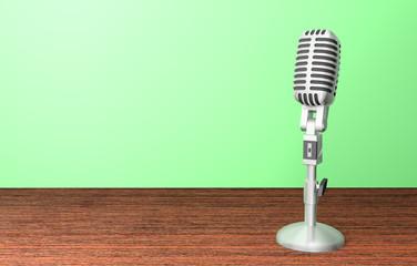 microphone micro rétro