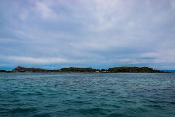 Vue sur les Iles Paul Ricard à Six-Fours-les-Plages