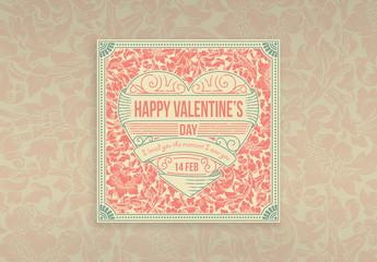 Retro Digital Valentine's Day Layout