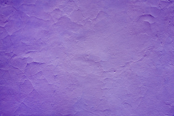 Wall in ultraviolet tones, fashion and style, traces of brush, design background,