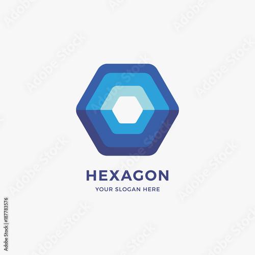 Hexagon Logo Design Template\