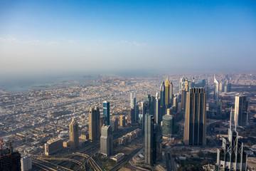 View of urban Dubai from Burj Khalifa