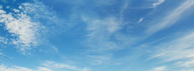 White clouds on sky