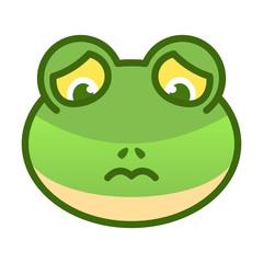 Frog Sad Expression Emoticon