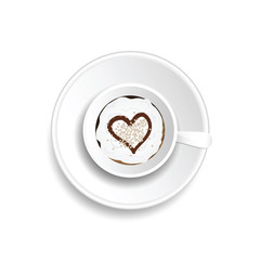 coffee cup drink with heart illustration