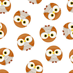 Wall Mural - Owl Pattern Seamless